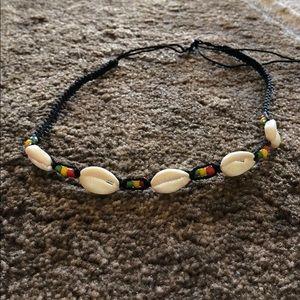 Hawaiian cowrie shell choker